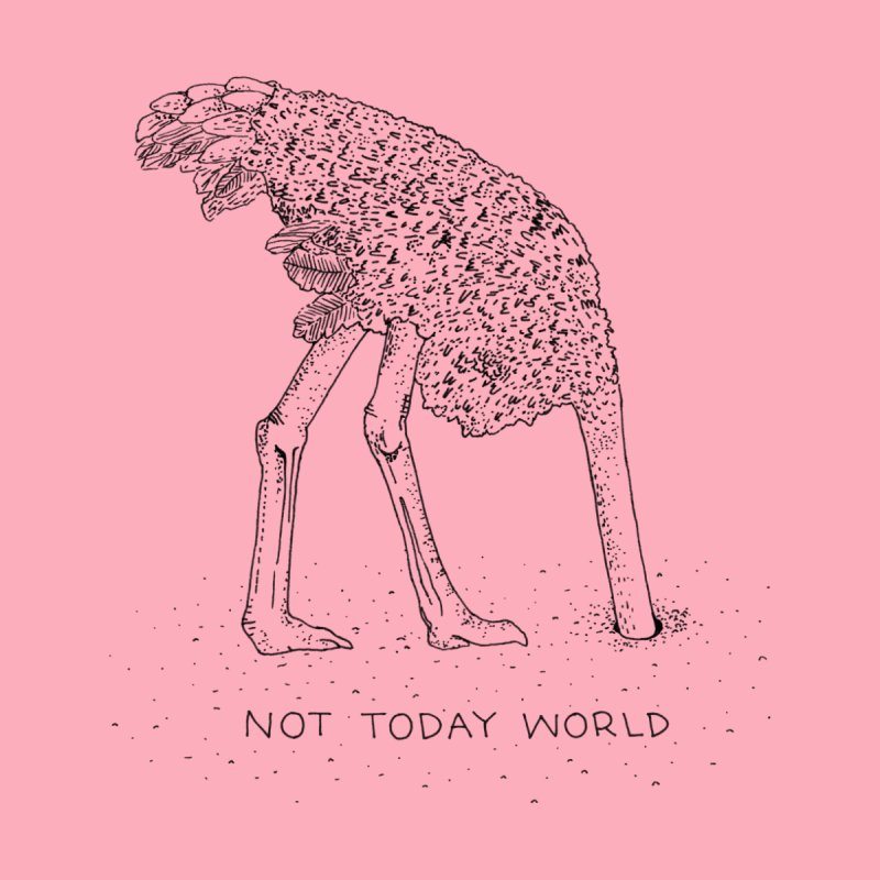 Not Today World Men's V-Neck by Threadless Artist Shop