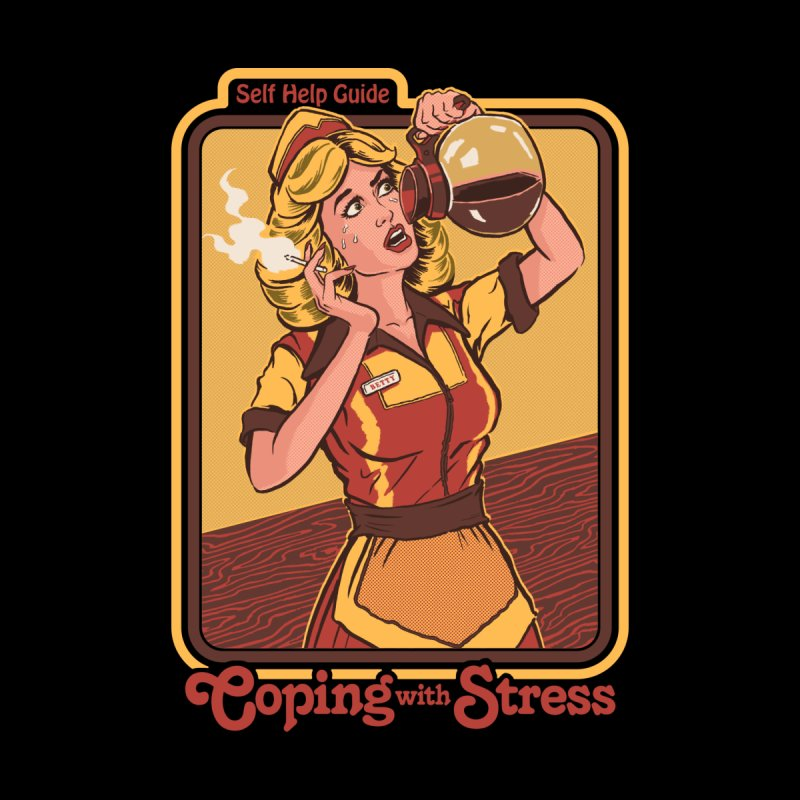 Coping with Stress (Black Variant) Accessories Mug by Threadless Artist Shop