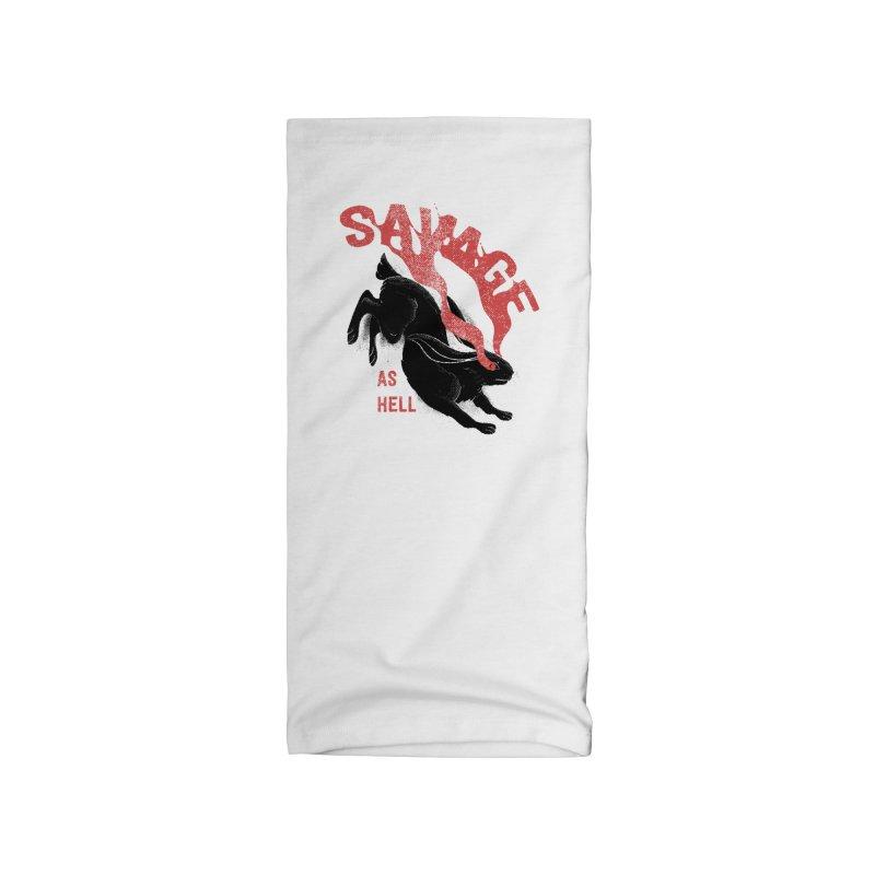 Savage as rabbit Accessories Neck Gaiter by Threadless Artist Shop