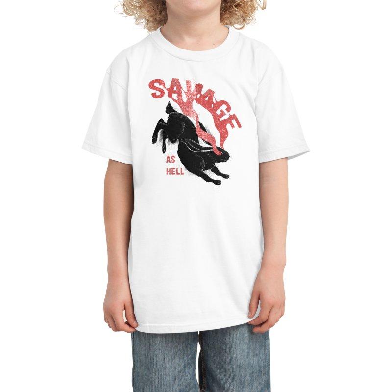 Savage as rabbit Kids T-Shirt by Threadless Artist Shop