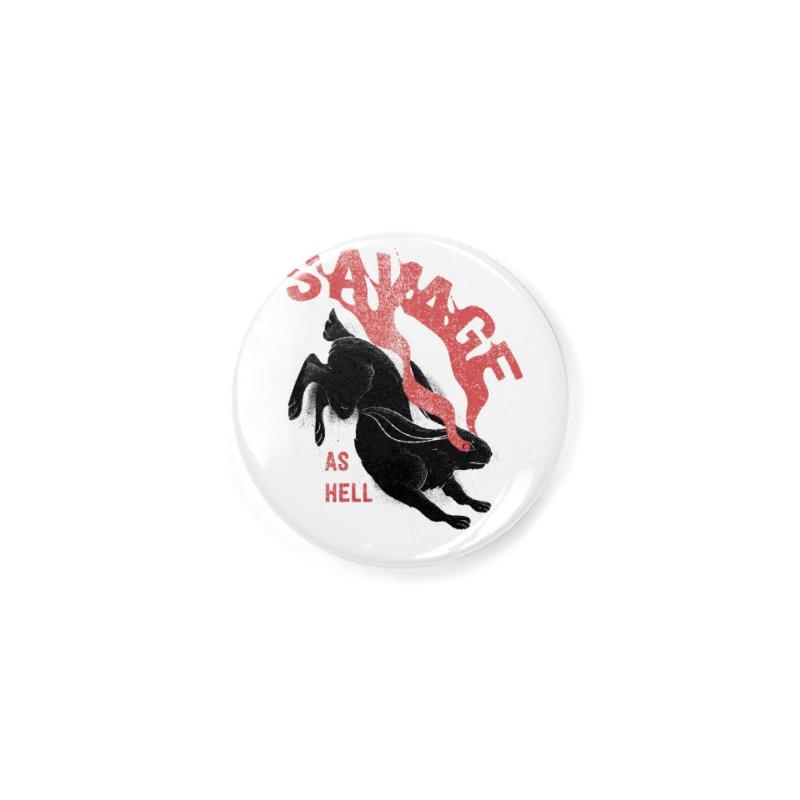 Savage as rabbit Accessories Button by Threadless Artist Shop