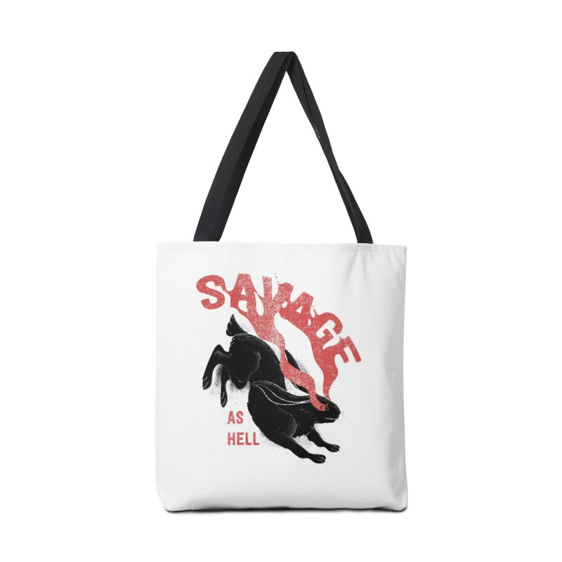 Savage as rabbit Accessories Bag by Threadless Artist Shop