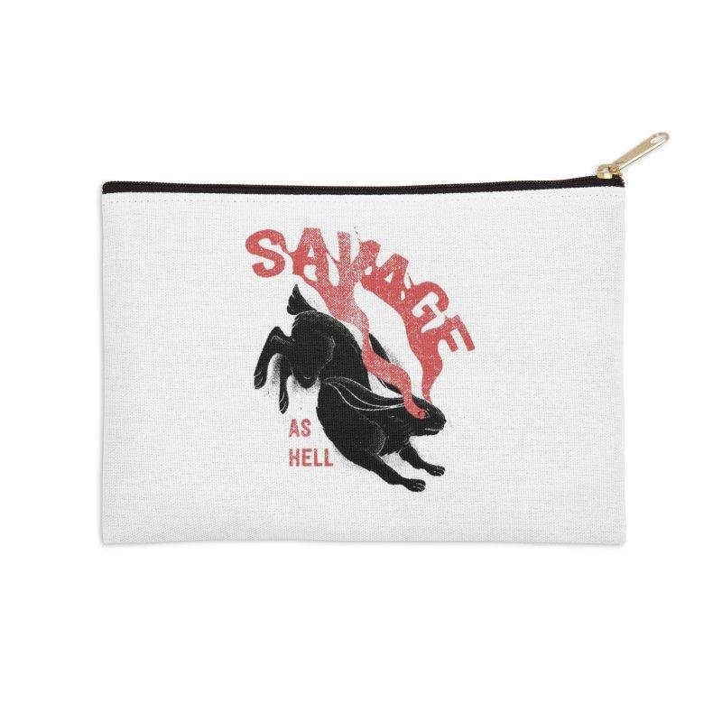 Savage as rabbit Accessories Zip Pouch by Threadless Artist Shop