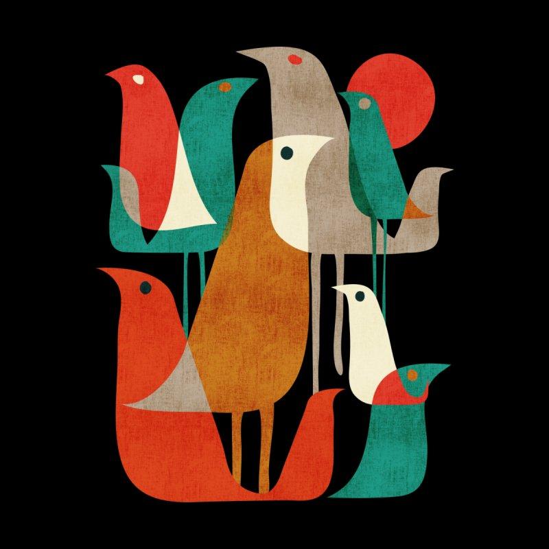 Flock of Birds (Black Variant) Home Mounted Acrylic Print by Threadless Artist Shop