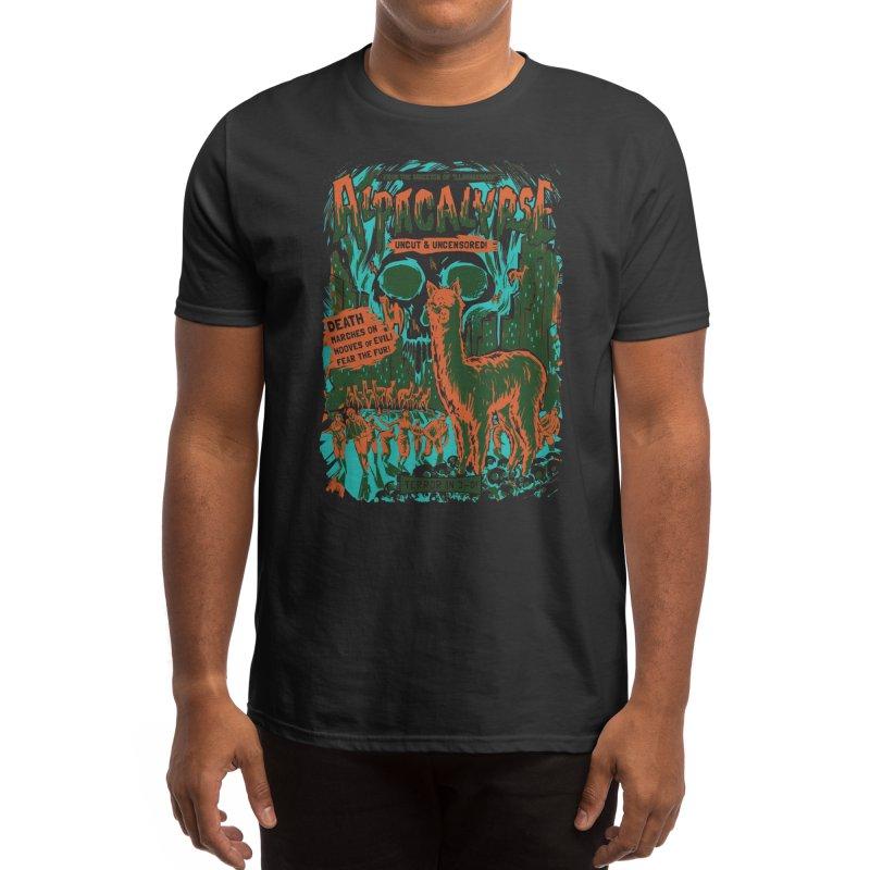 Alpacalypse! (Black Variant) Men's T-Shirt by Threadless Artist Shop