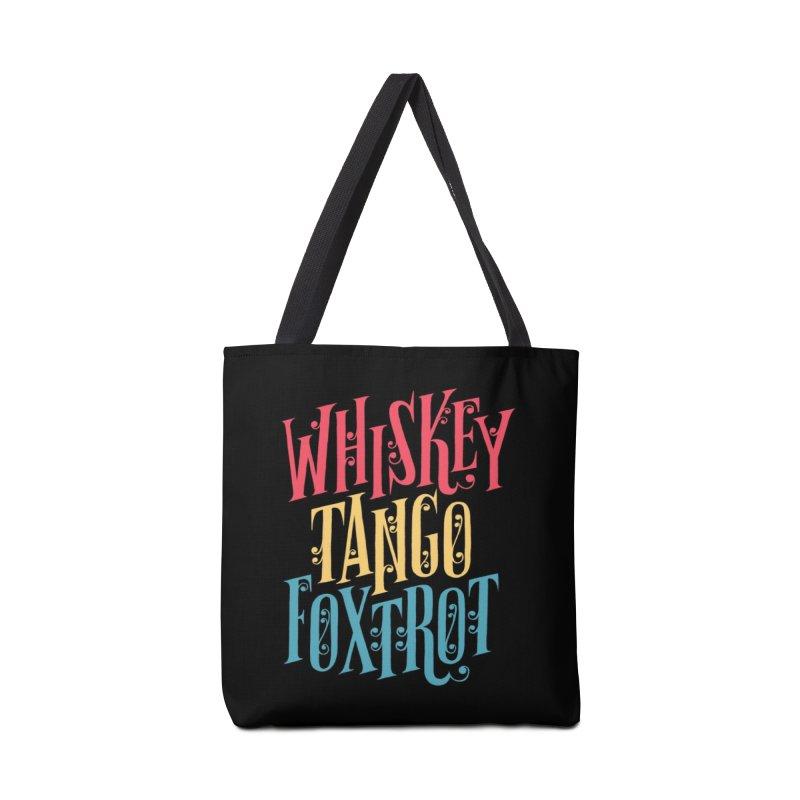 Whiskey Tango Foxtrot Accessories Bag by Threadless Artist Shop