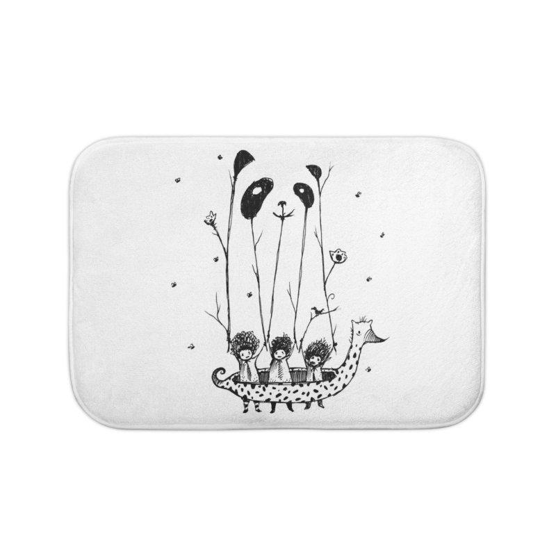 Fake Pandas Have More Fun Home Bath Mat by Threadless Artist Shop