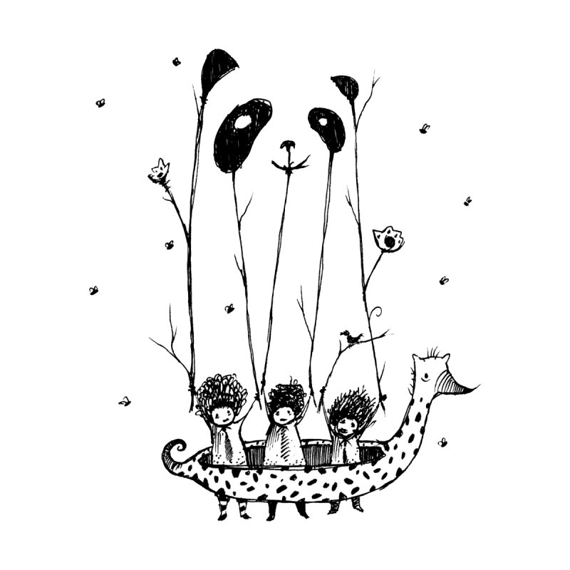Fake Pandas Have More Fun Accessories Skateboard by Threadless Artist Shop