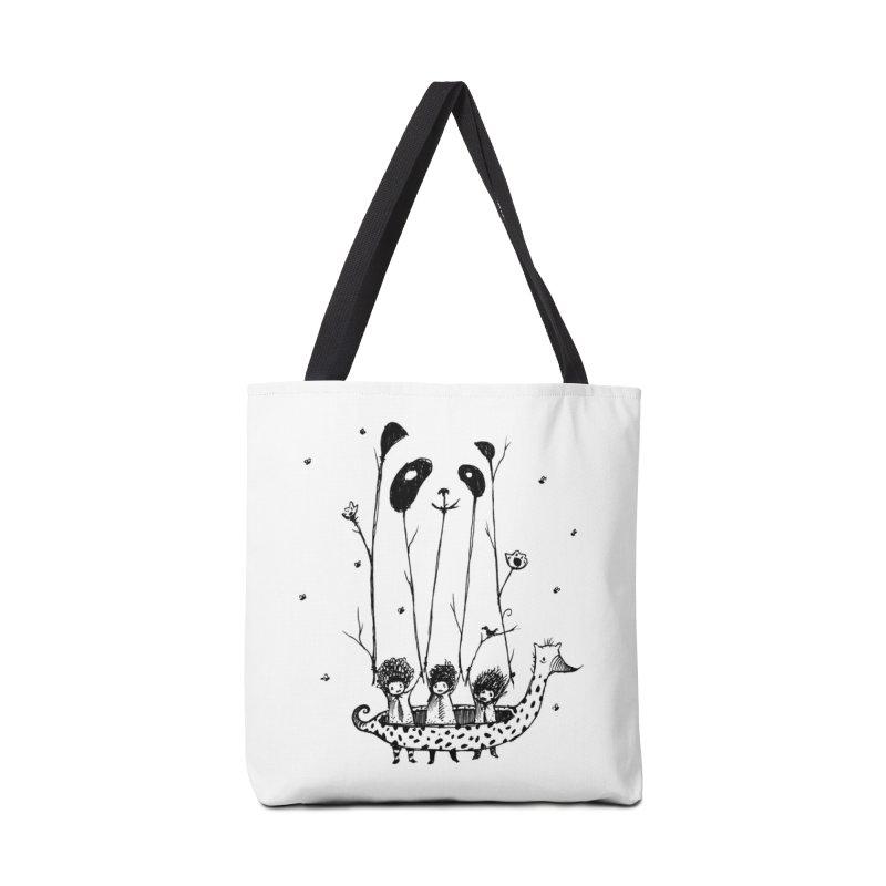 Fake Pandas Have More Fun Accessories Bag by Threadless Artist Shop