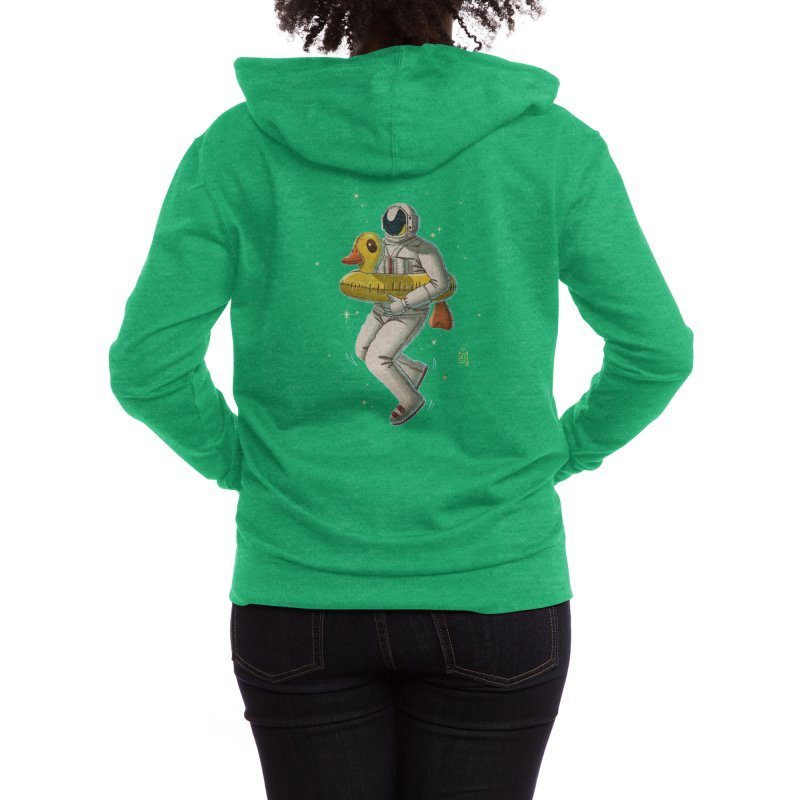Space swimming Women's Zip-Up Hoody by Threadless Artist Shop