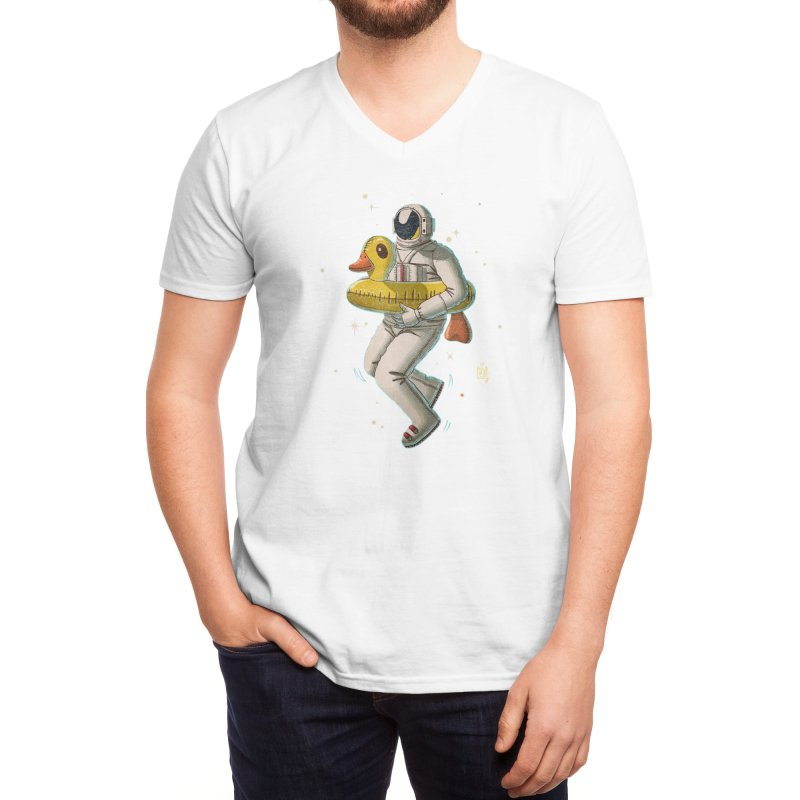 Space swimming Men's V-Neck by Threadless Artist Shop