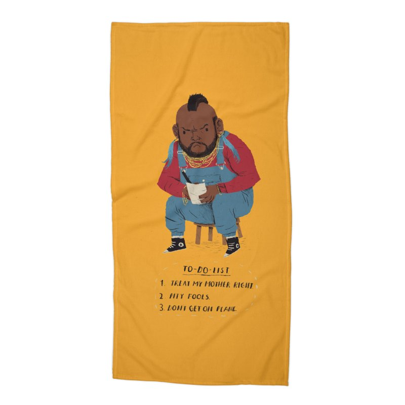 T To-Do List Accessories Beach Towel by Threadless Artist Shop