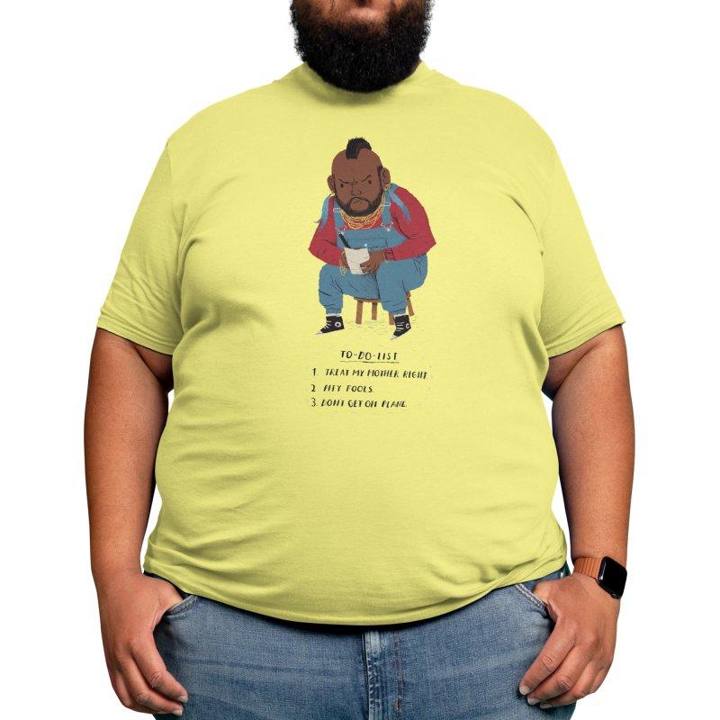 T To-Do List Men's T-Shirt by Threadless Artist Shop