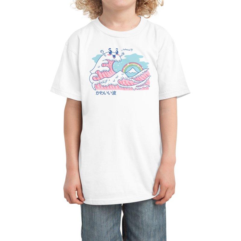 The Great Kawaii Wave Kids T-Shirt by Threadless Artist Shop