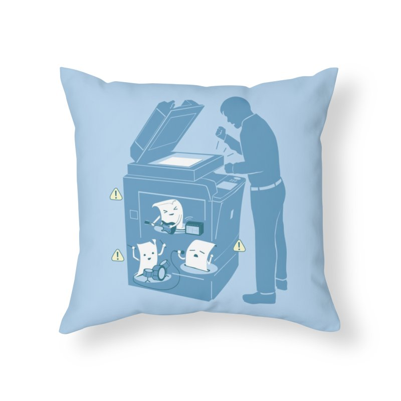 Paper Jam Home Throw Pillow by Threadless Artist Shop