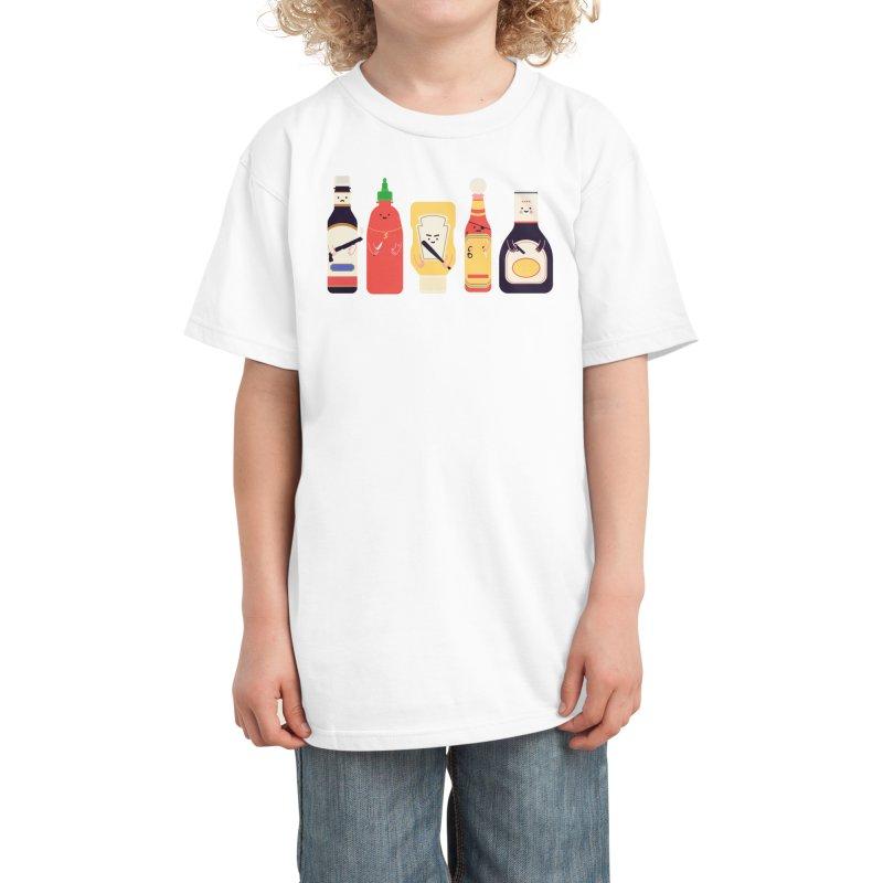 Ex-Condiments Kids T-Shirt by Threadless Artist Shop