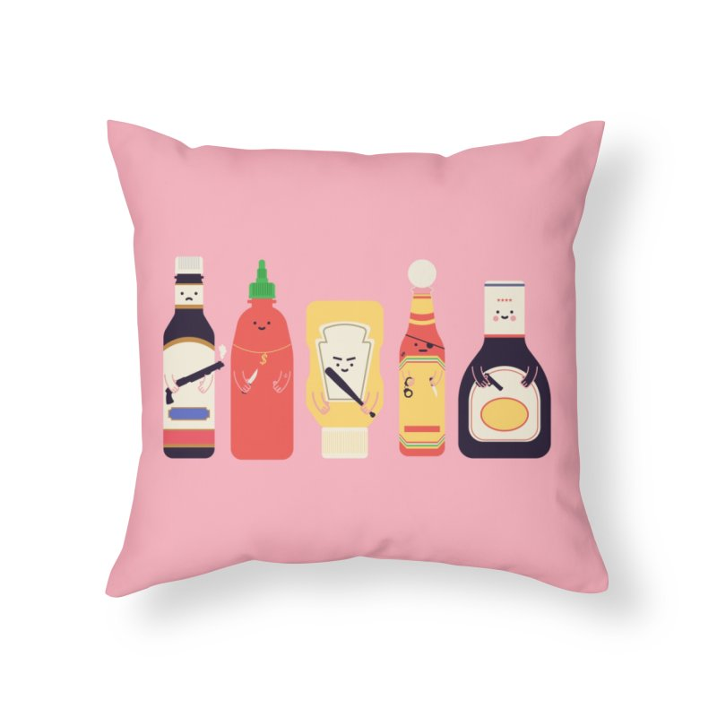 Ex-Condiments Home Throw Pillow by Threadless Artist Shop