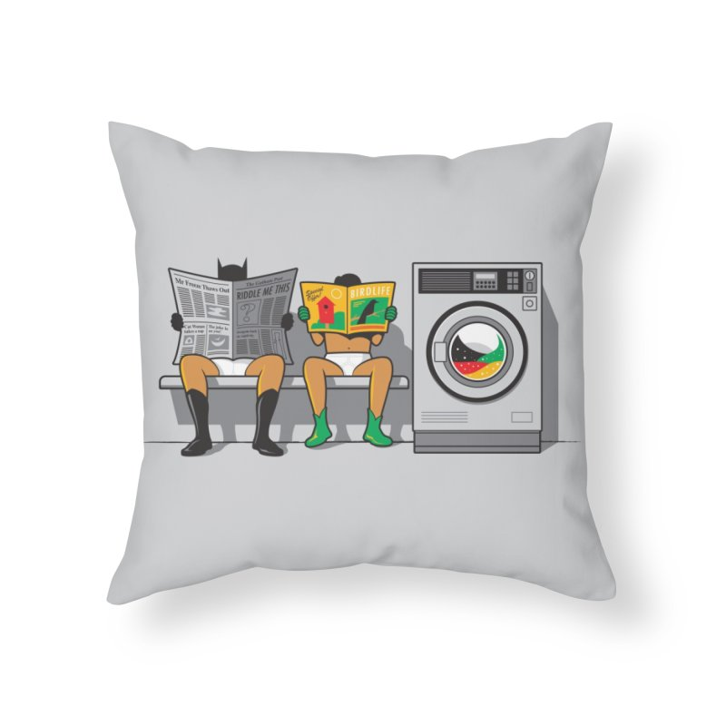 Alfred's Day Off Home Throw Pillow by Threadless Artist Shop