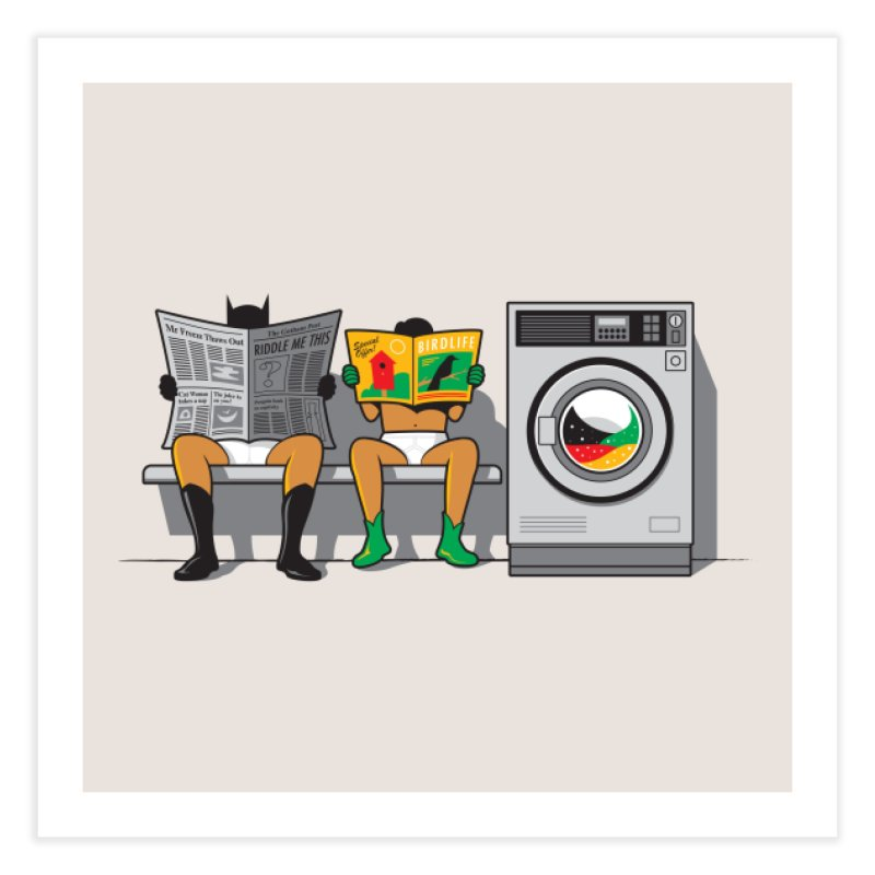 Alfred's Day Off Home Fine Art Print by Threadless Artist Shop
