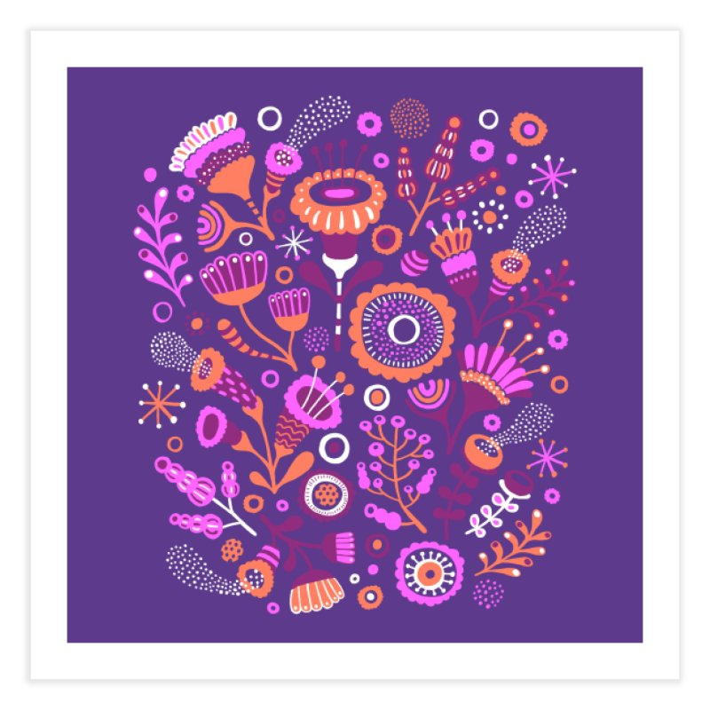Magic Flowers Home Fine Art Print by Threadless Artist Shop