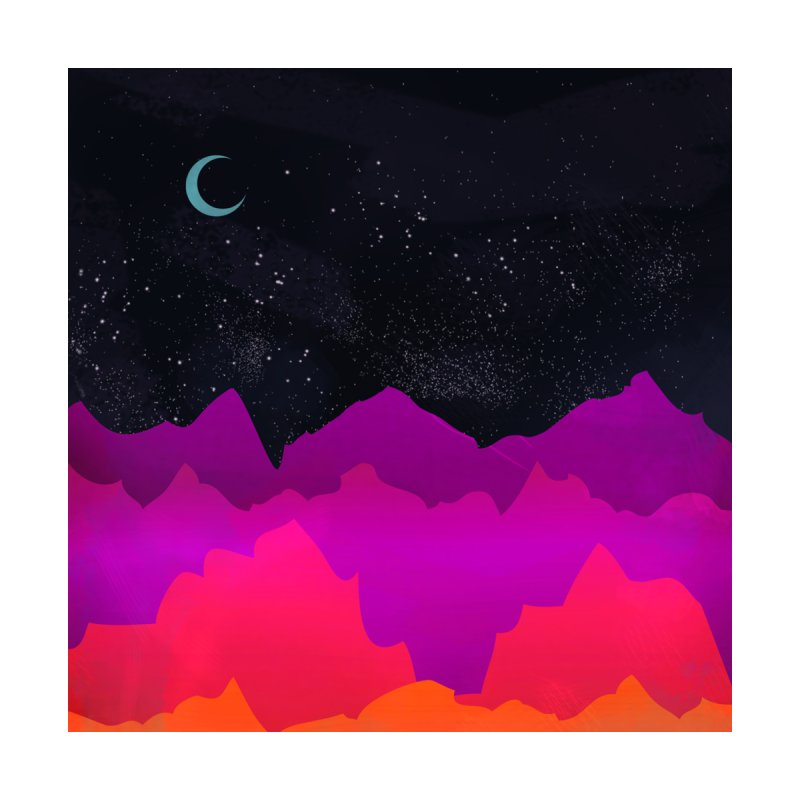Serene Mountain Scene Home Stretched Canvas by Threadless Artist Shop