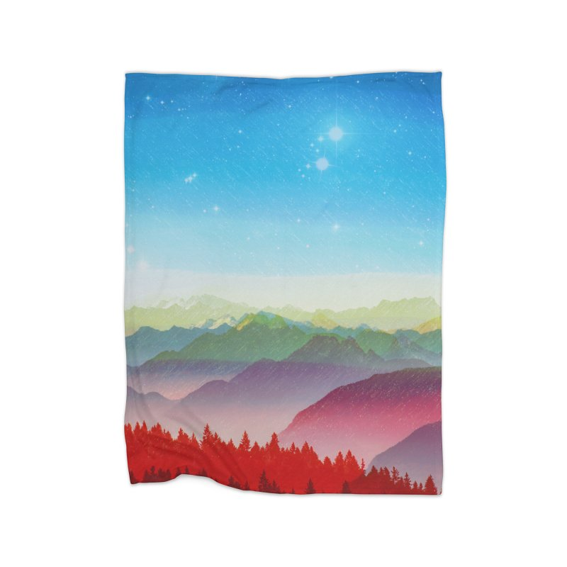 Red morning Home Blanket by Threadless Artist Shop