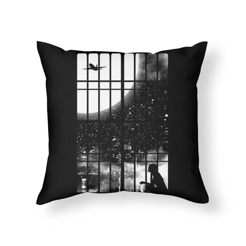 All Alone Home Throw Pillow by Threadless Artist Shop