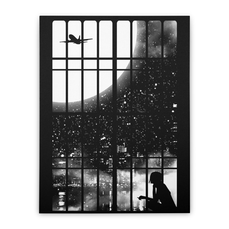 All Alone Home Stretched Canvas by Threadless Artist Shop