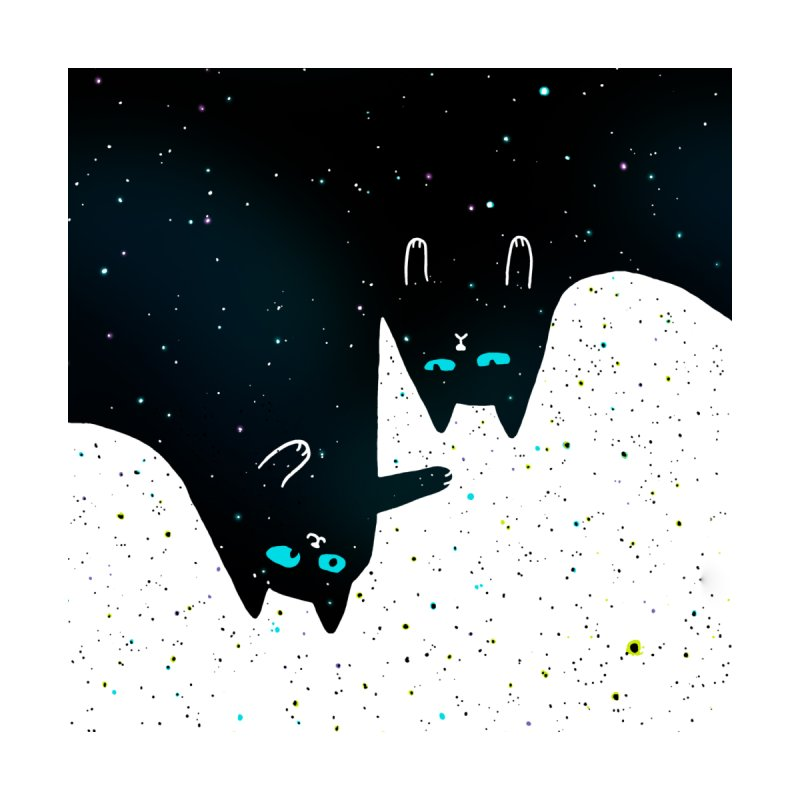 Space Cat Galaxy Men's T-Shirt by Threadless Artist Shop