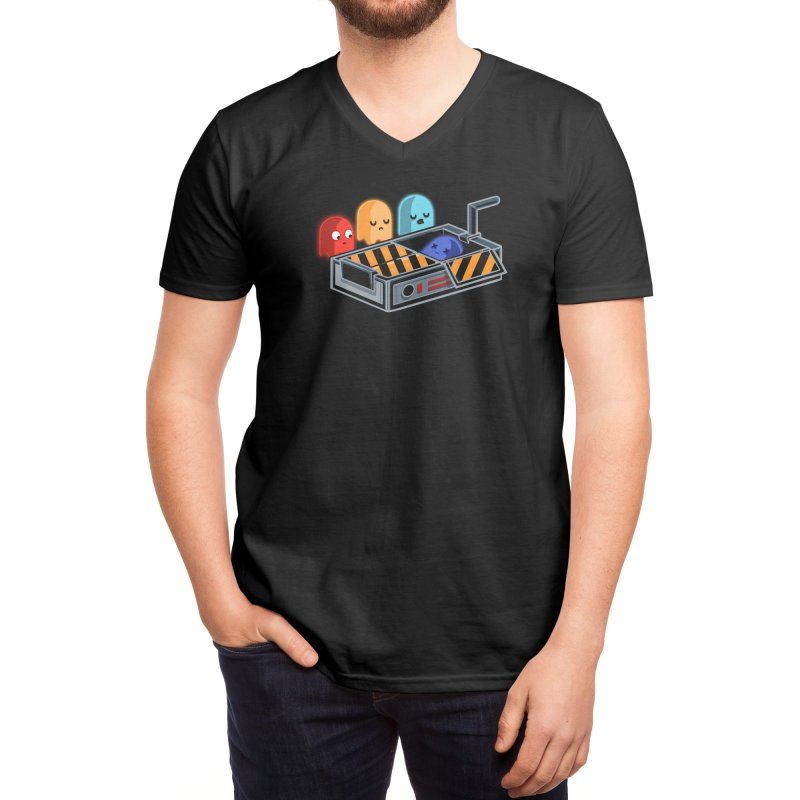 Ghost Busted Men's V-Neck by Threadless Artist Shop