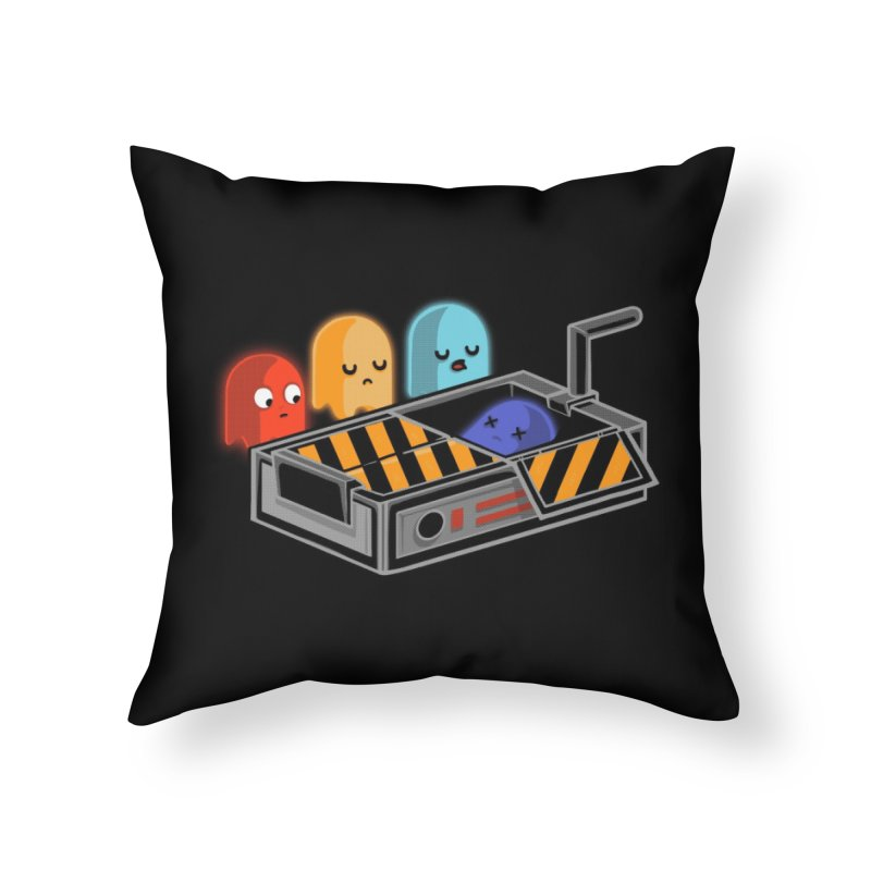 Ghost Busted Home Throw Pillow by Threadless Artist Shop