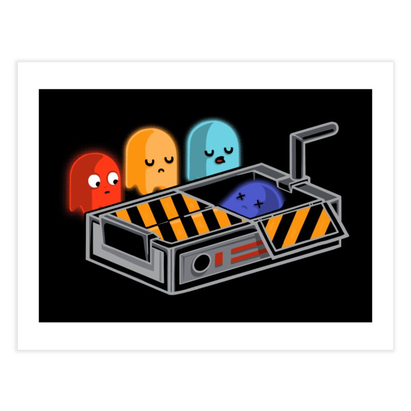 Ghost Busted Home Fine Art Print by Threadless Artist Shop