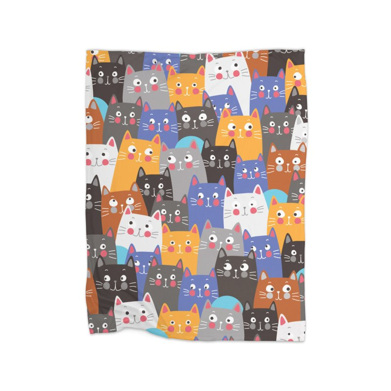 cats, cats, cats ..... Home Blanket by Threadless Artist Shop