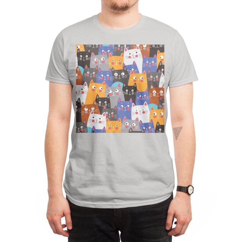 cats, cats, cats ..... Men's T-Shirt by Threadless Artist Shop