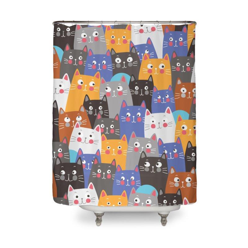 cats, cats, cats ..... Home Shower Curtain by Threadless Artist Shop