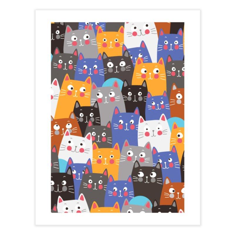 cats, cats, cats ..... Home Fine Art Print by Threadless Artist Shop