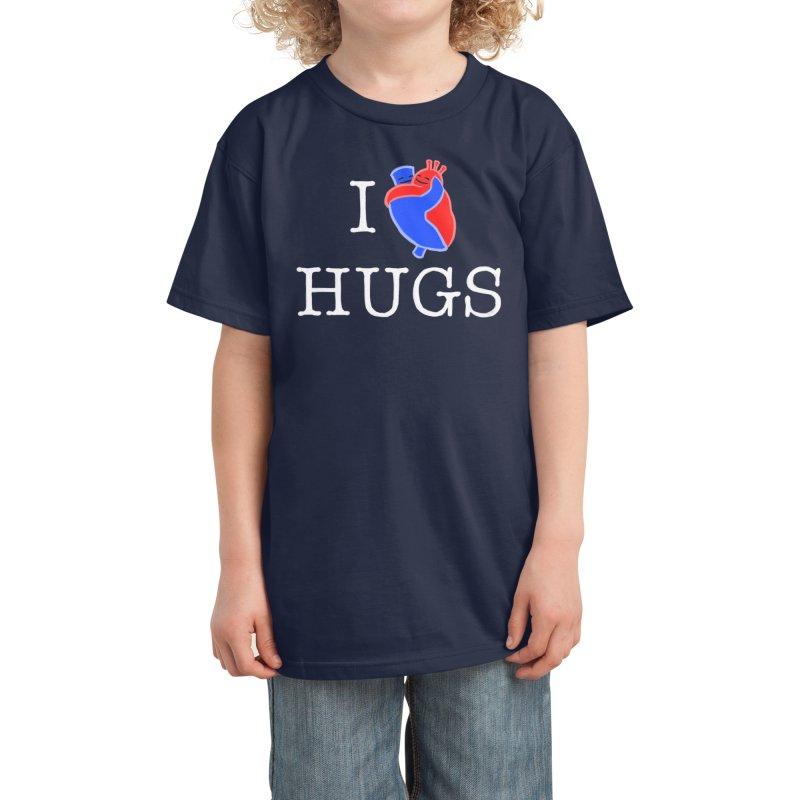 I Love Hugs Kids T-Shirt by Threadless Artist Shop