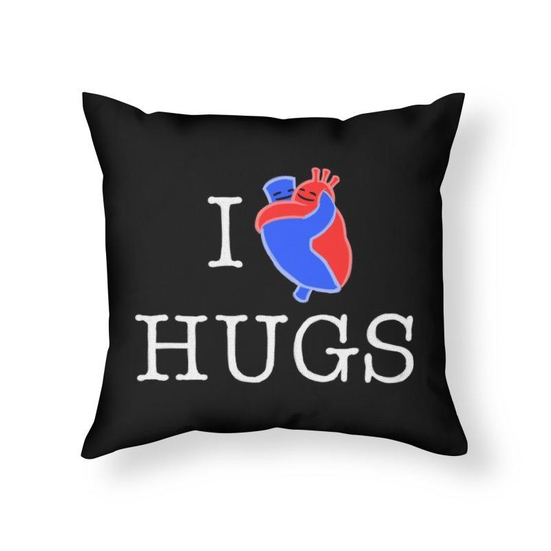 I Love Hugs Home Throw Pillow by Threadless Artist Shop