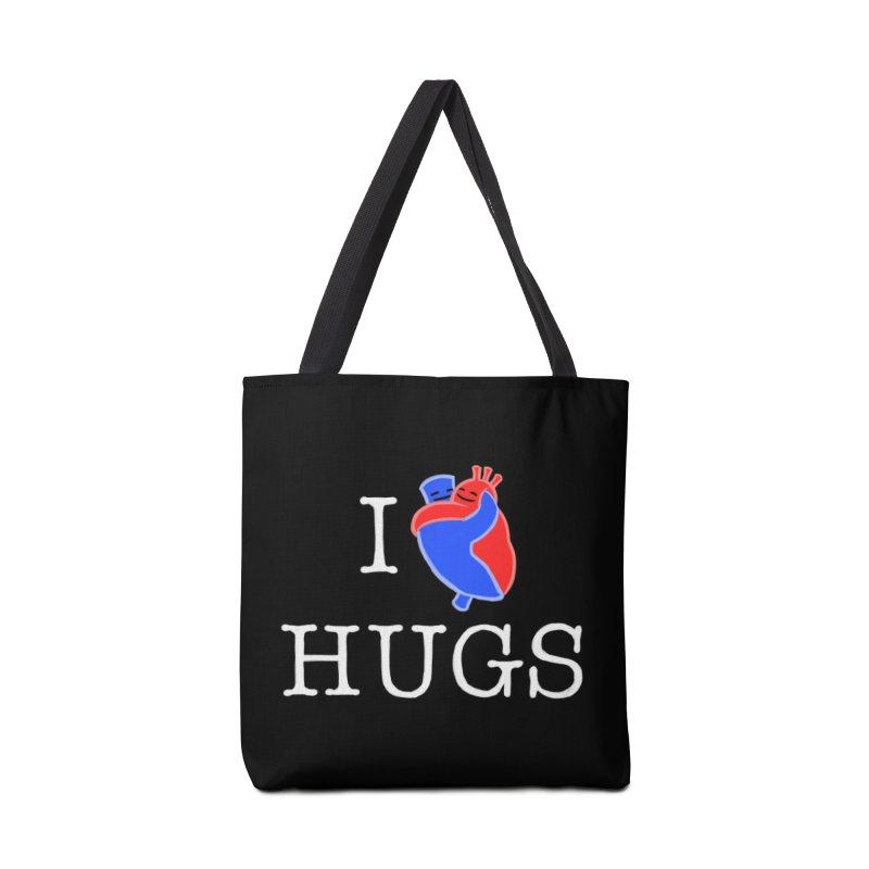 I Love Hugs Accessories Bag by Threadless Artist Shop