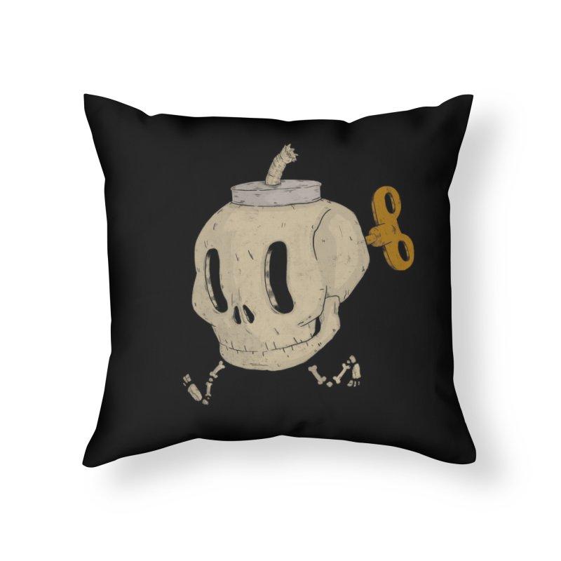 Skull Bomb Home Throw Pillow by Threadless Artist Shop