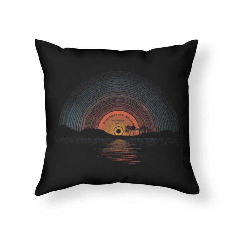Sound Of Summer Home Throw Pillow by Threadless Artist Shop