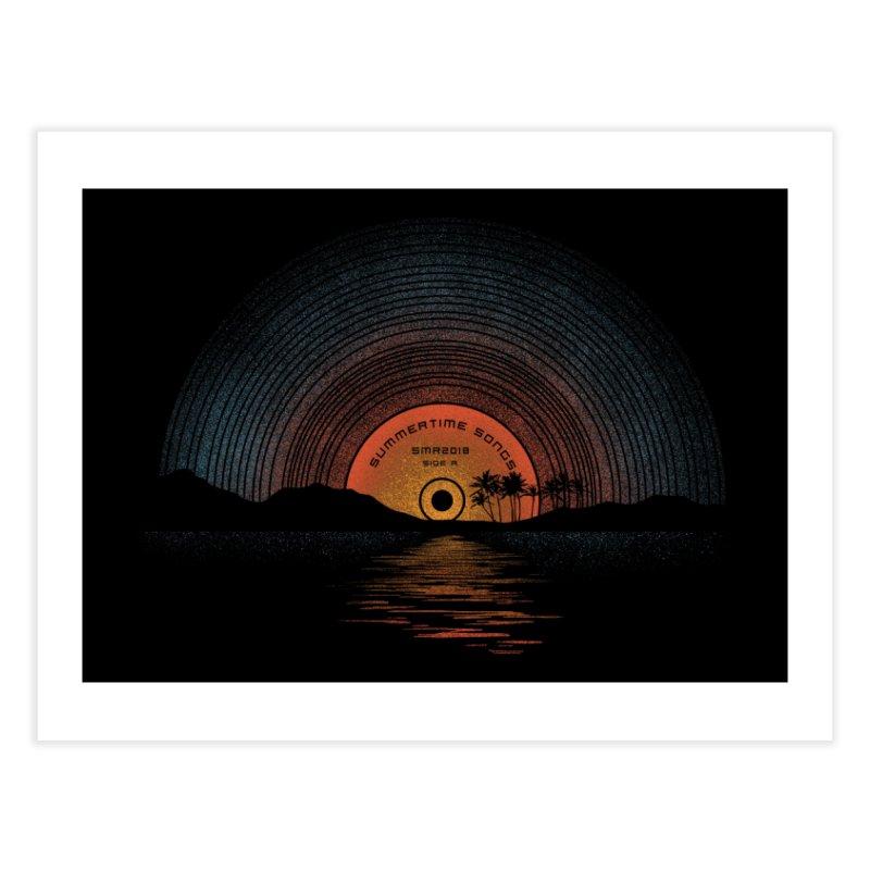 Sound Of Summer Home Fine Art Print by Threadless Artist Shop