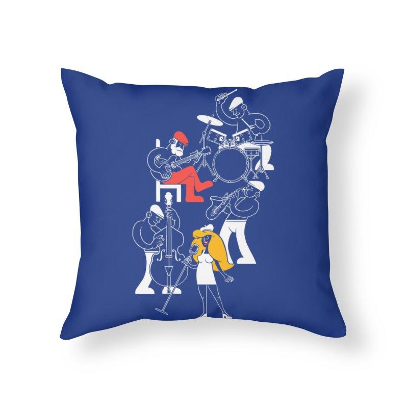 Classic Blues Home Throw Pillow by Threadless Artist Shop