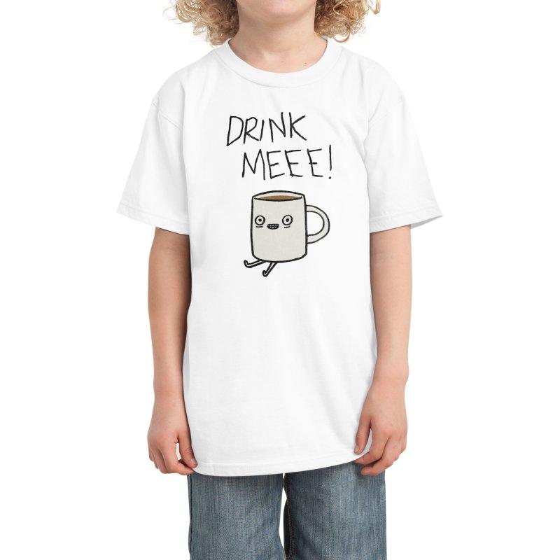 Drink Me Coffee Kids T-Shirt by Threadless Artist Shop
