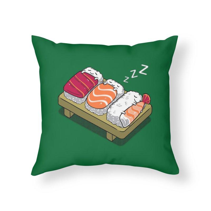 Sushi Home Throw Pillow by Threadless Artist Shop