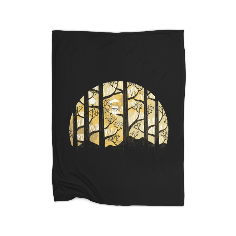 Why Is an Owl Smart? Home Blanket by Threadless Artist Shop