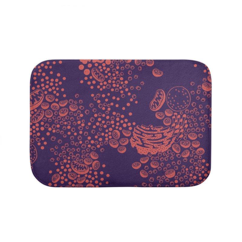 Organelles of an Animal Cell Home Bath Mat by Threadless Artist Shop