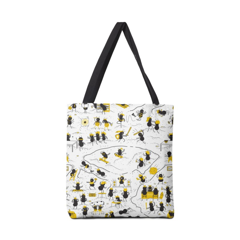 Crazy Ants Accessories Bag by Threadless Artist Shop