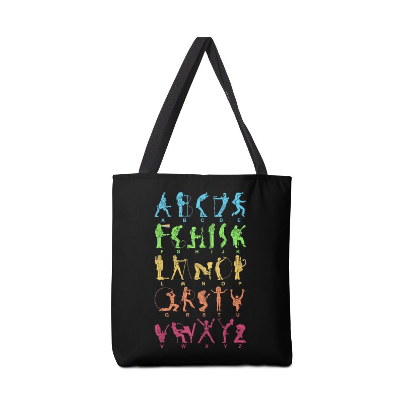 MUSICAL ALPHABET Accessories Bag by Threadless Artist Shop