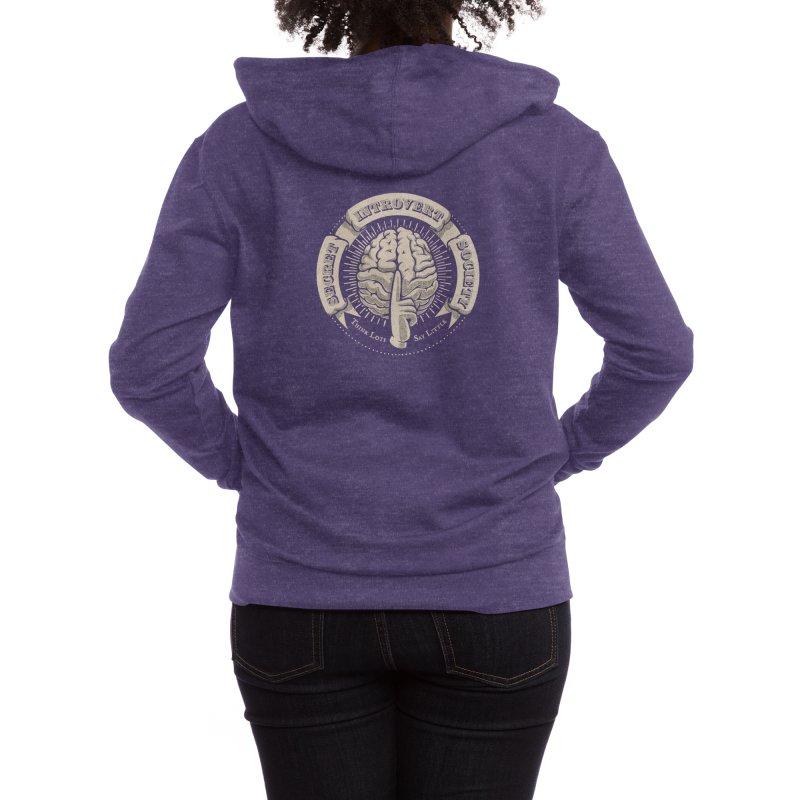 Secret Introvert Society Women's Zip-Up Hoody by Threadless Artist Shop